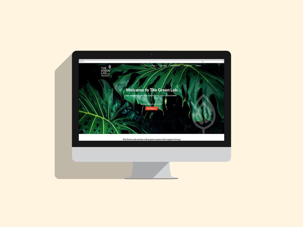 Desktop website design The Green Lab