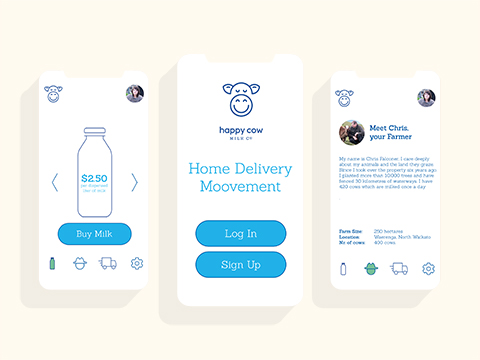 Home delivery app Happy Cow