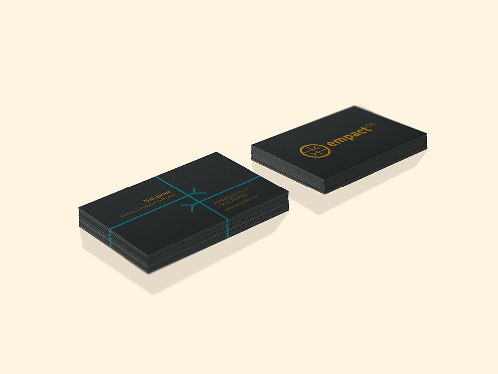 Business card design empact co