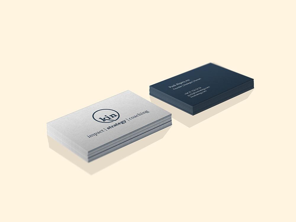 business card design Kin Strategy
