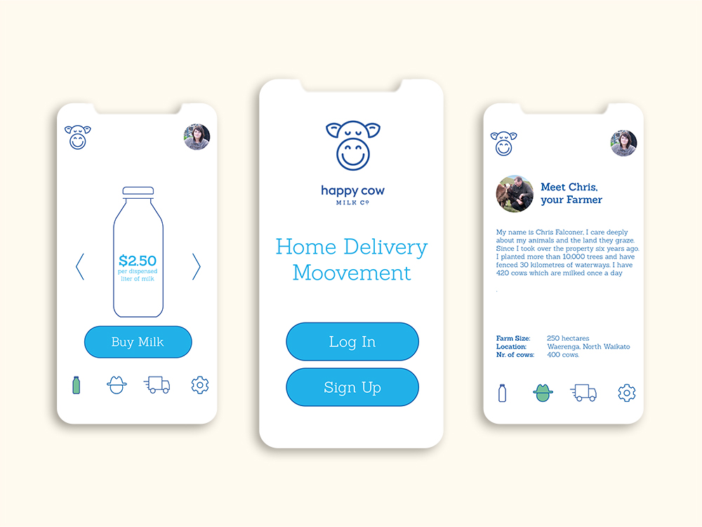 Happy Cow App sample pages